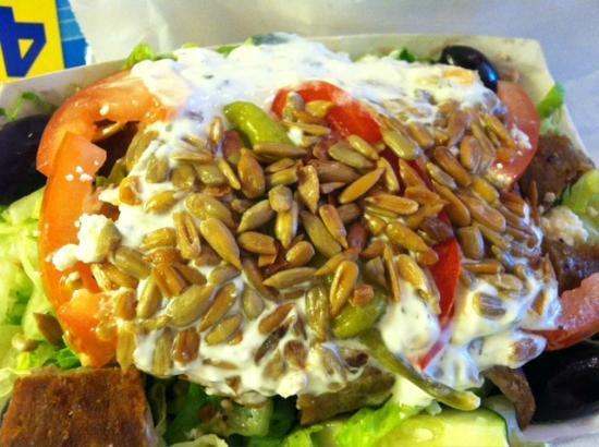Anna's Gyros & Pizza: Small Greek Salad, could easily feed two