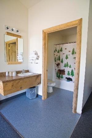 Big Bear Motel: New bathroom in 2 queen rooms