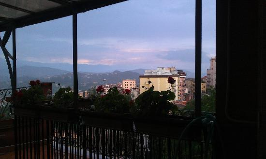 Hotel Garibaldi: looking into the hills and the city