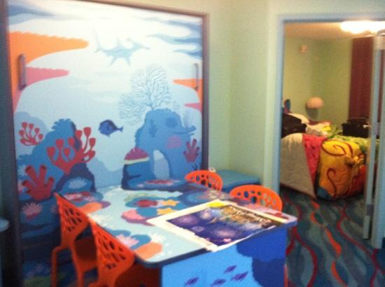 Disney's Art of Animation Resort: the pullout bed slept very well