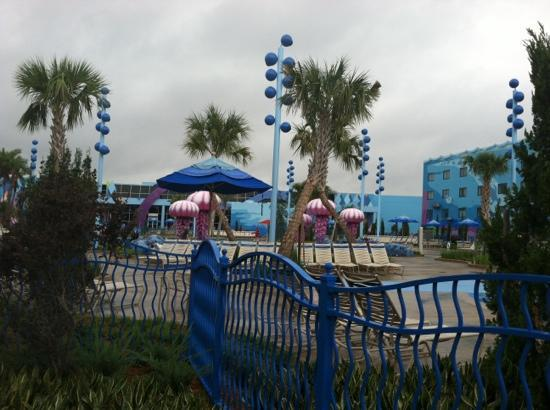 Disney's Art of Animation Resort: the pool played music under water