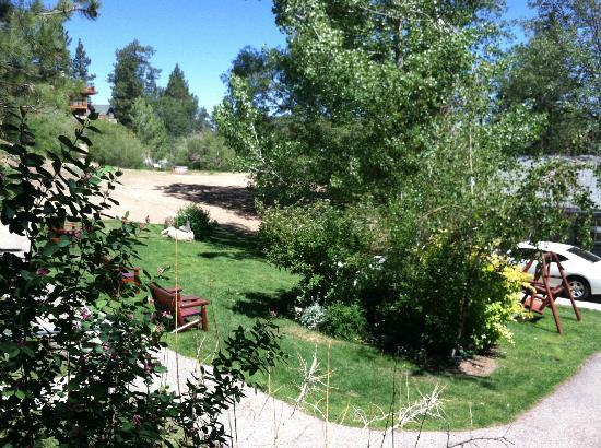 Pine Knot Guest Ranch: View from the porch of Cabin 15