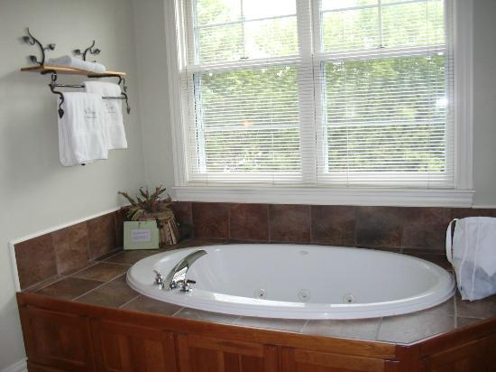 Lodgings at Pioneer Lane: Cabin Room Bathtub!