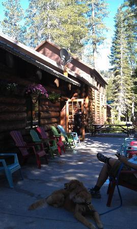 Patio of Gray Eagle Lodge
