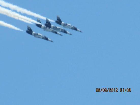 Sahara Motel: 2012 OC air show from sitting outside our room 335