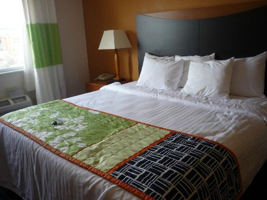 Fairfield Inn Colorado Springs Air Force Academy: King bed