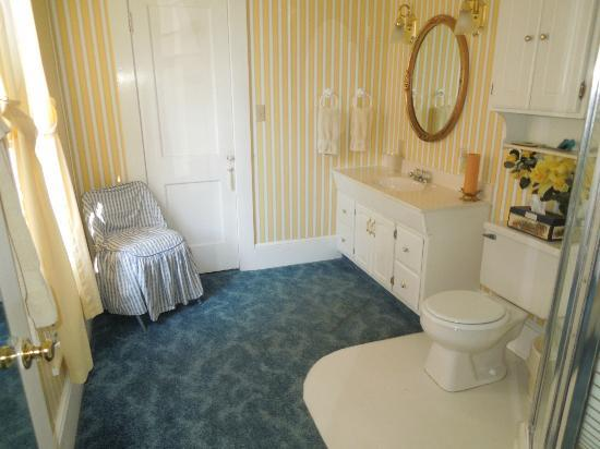 The Pines of Dresden Bed and Breakfast: Bathroom for the Sunshine Room at the Ivy