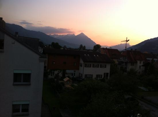Heidi's Hostel: from the balcony of our room