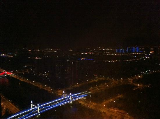 Wuxi Kaiyan Universal Center Serviced Apartment: night view from the hotel room