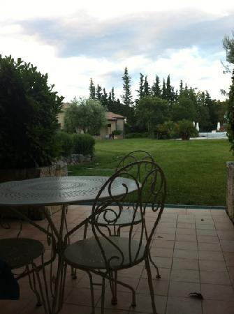 La Residence du Moulin: view of the pool from our patio