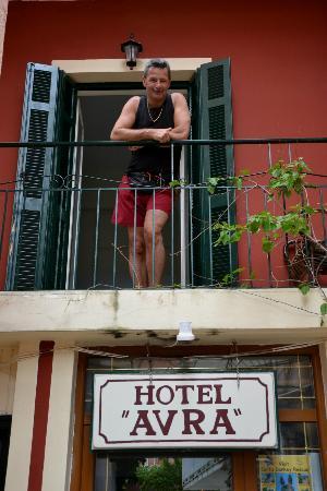 Hotel Avra: Balcon de la chambre