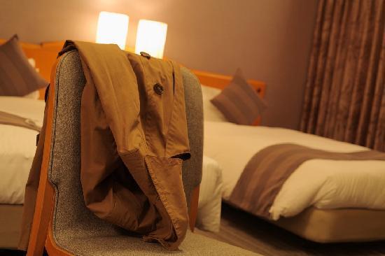 Okayama Koraku Hotel: 目の疲れない優しい照明にいやされる空間