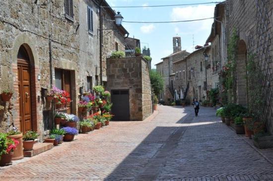 Sovana, Italia: ...der Weg zum Dom....