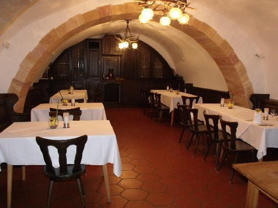 Schloss Hohenstein: dinner dining room