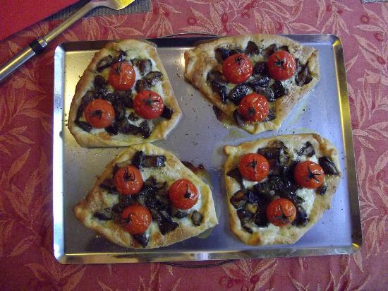 La Maison d'Aurette : Tartelette Aubergine Tomate