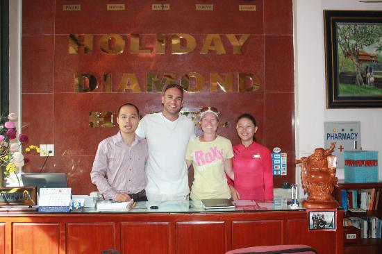 Holiday Diamond Hotel: Smiley (who is not Smiling) Me, Leonie, Caroline