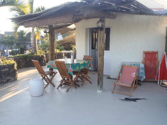 Residence Les Boucaniers: Terrasse du kiosque