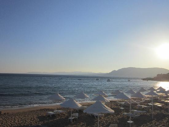 Pefkos Beach: View out to sea