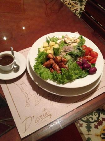 Ensalada mediterranea de pollo picture of d 39 arte for Cocina mediterranea