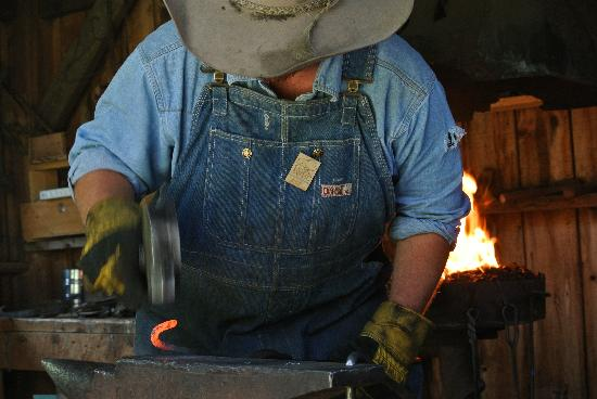 American West Heritage Center: blacksmith in action