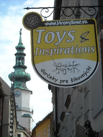 Shop Creative Toys: 100 m. from St. Michael's Gate