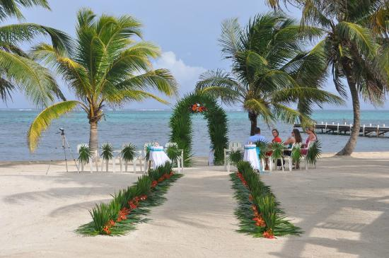 SunBreeze Hotel: The set up for the ceremony.