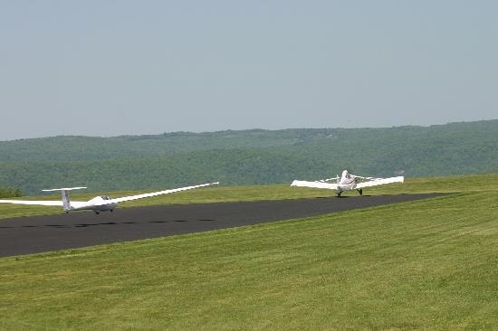 Harris Hill Soaring Center: Get pulled down the runway