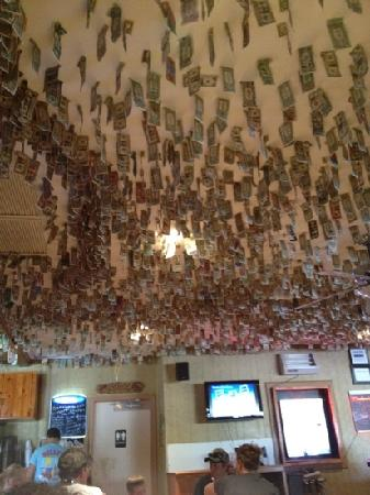 Dollar Bill Stuck To The Ceiling Picture Of Billy S