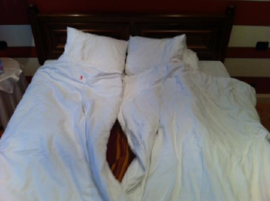 Cannobio, Italia: le lenzuola singole usate su matrimoniale