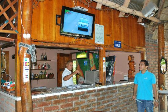 Santa Cruz Hostel & Restaurant : Area del Centro recreativo en el ranchon del Restaurante