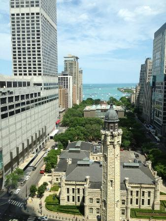Park Hyatt Chicago: view of Michigan Avenue & the lake from room 1808