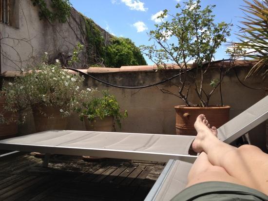 L'Hotel Particulier 28 a Aix: roof deck!