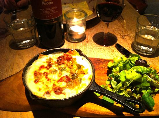 Machiavelli Kitchen Dining Room Lasagna Special With Sausage And Asparagus At The