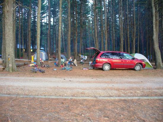 Pog Lake Campground: 210.....Huge site!