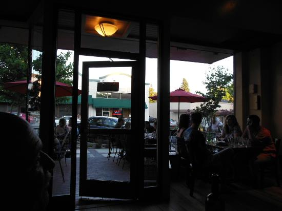 Looking out the front door - Picture of Tre Pazzi Trattoria ...