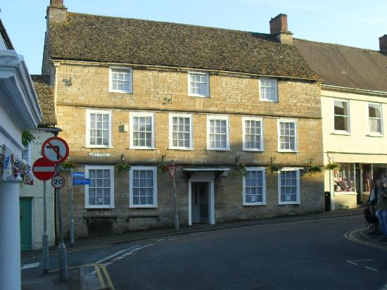 Wotton-under-Edge, UK : front of the house from street