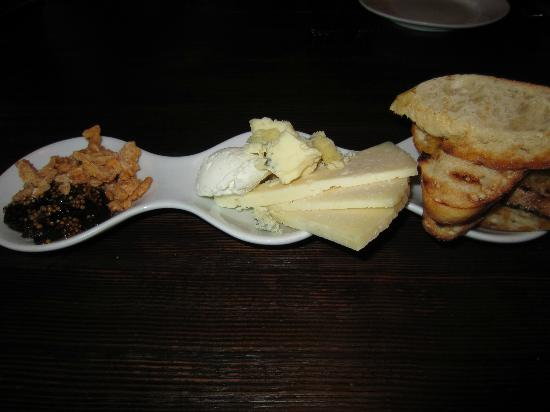 The Blacksmith Restaurant: assorted cheese platter.  dear restaurant, get a bigger serving dish.
