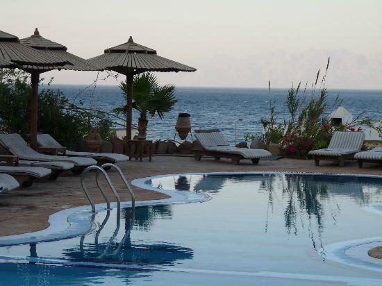 فندق ذا بدوين مون: Pool with view to Saudi coast