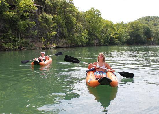 Kayak Float On The Current River In Van Buren Mo