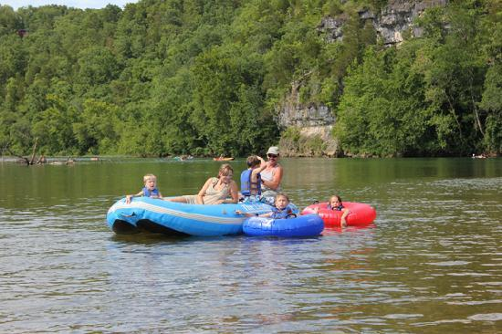 The Landing Canoe And Trips Raft Float On Cur River In Van Buren