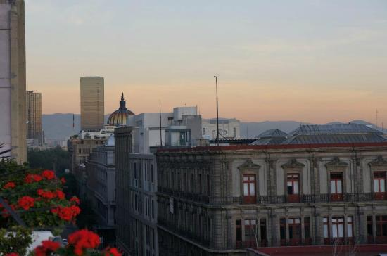 Hotel Gillow: View from our balcony looking toward Palacio de Bellas Artes, Mexico City's Opera House