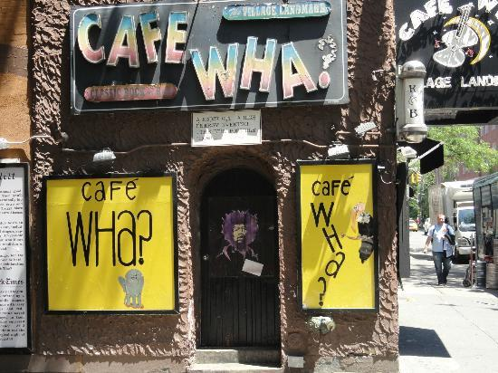 Real New York Tours: Cafe Wha? in Greenwich Village (where Jimi Hendrix was discovered)