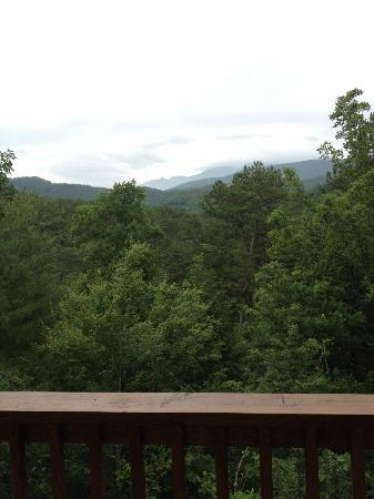 Accommodations by Parkside Resort: View from back upper deck