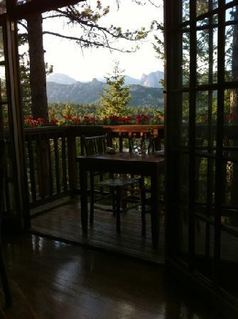 The View Restaurant at the Historic Crags Lodge : just one of the views...
