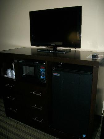 Holiday Inn Express Columbia : Flat Screen TV and Microwave