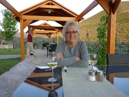 Natureland Efes Pension: A lovely pergola, take your pick - a glass of wine, a beautiful dinner, or a splendid breakfast