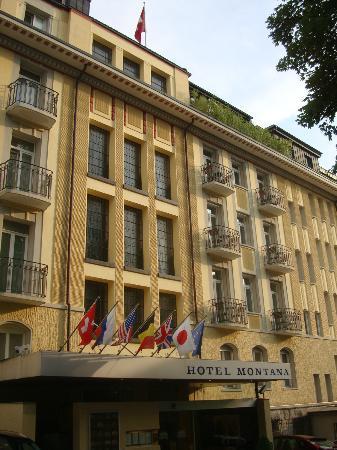 Art Deco Hotel Montana Luzern: Front / Street side of the hotel