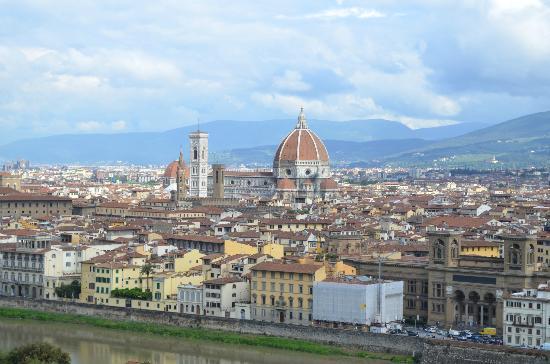 Villa La Vedetta: View of the city of Firenze from the terrace