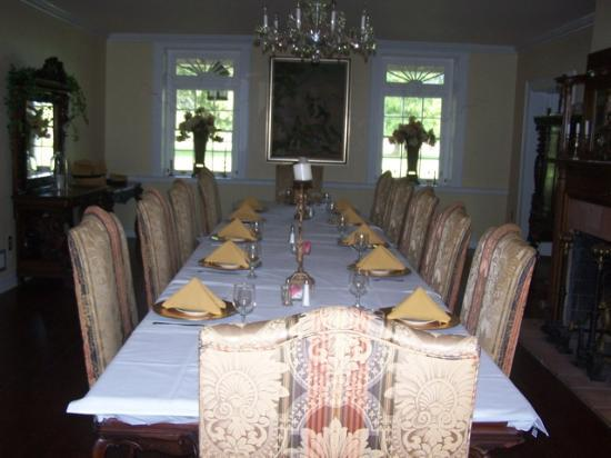 Ormond Plantation Manor House: Exquisite dining room used for bed and breakfast guests