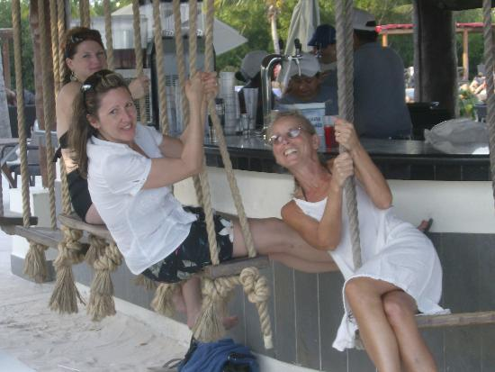 BlueBay Grand Esmeralda: The swing bar, not for amatures!